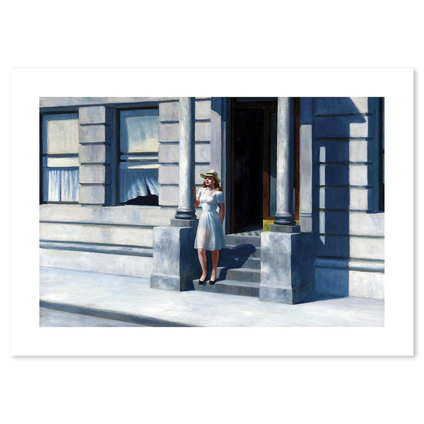 Wall-Art-Poster-Canvas-Framed-Summertime, By Edward Hopper-Gioia Wall Art