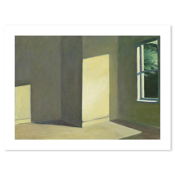 Wall-Art-Poster-Canvas-Framed-Sun in an Empty Room, By Edward Hopper-Gioia Wall Art