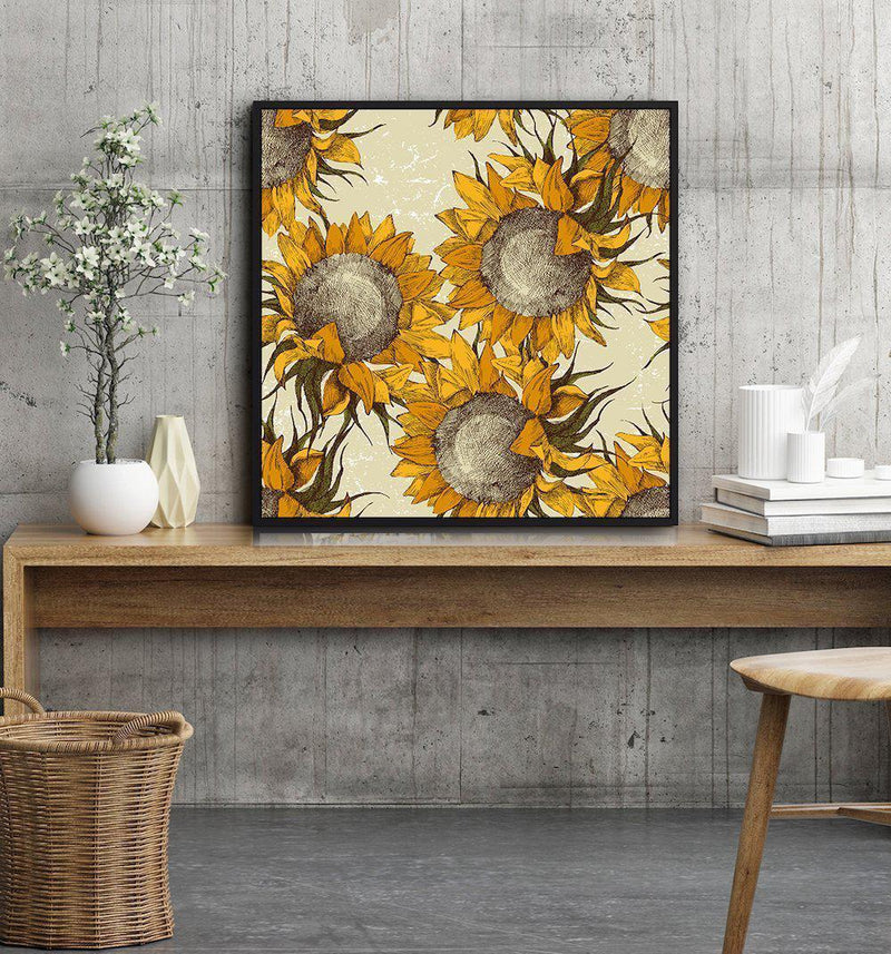Wall-Art-Poster-Canvas-Framed-Sunflower-Gioia Wall Art