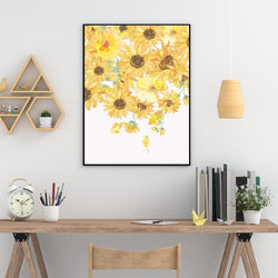 Wall-Art-Poster-Canvas-Framed-Sunflowers-Gioia Wall Art