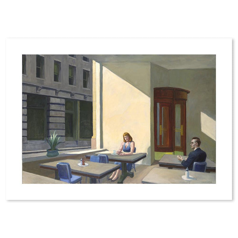 Wall-Art-Poster-Canvas-Framed-Sunlight in a Cafeteria, By Edward Hopper-Gioia Wall Art