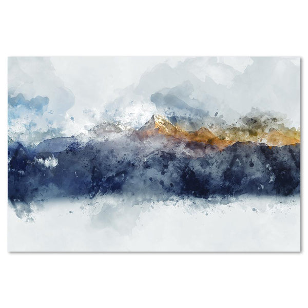 Wall-Art-Poster-Canvas-Framed-Sunlight Mountains, Abstract Art-Gioia Wall Art