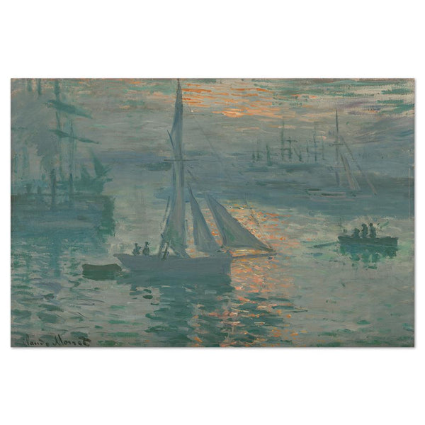 Wall-Art-Poster-Canvas-Framed-Sunrise Marine, By Monet-Gioia Wall Art