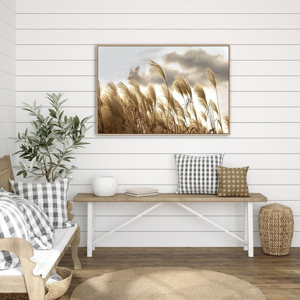 Wall-Art-Poster-Canvas-Framed-Sunset Pampas Grass-Gioia Wall Art