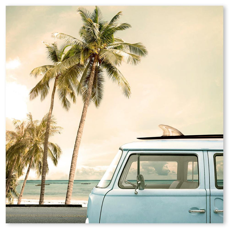 Wall-Art-Poster-Canvas-Framed-Surfers Kombi Van-Gioia Wall Art