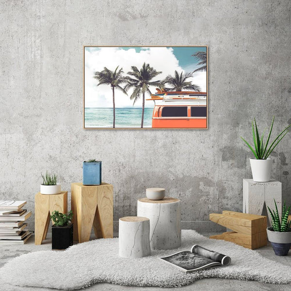 Wall-Art-Poster-Canvas-Framed-Surfs Up-Gioia Wall Art