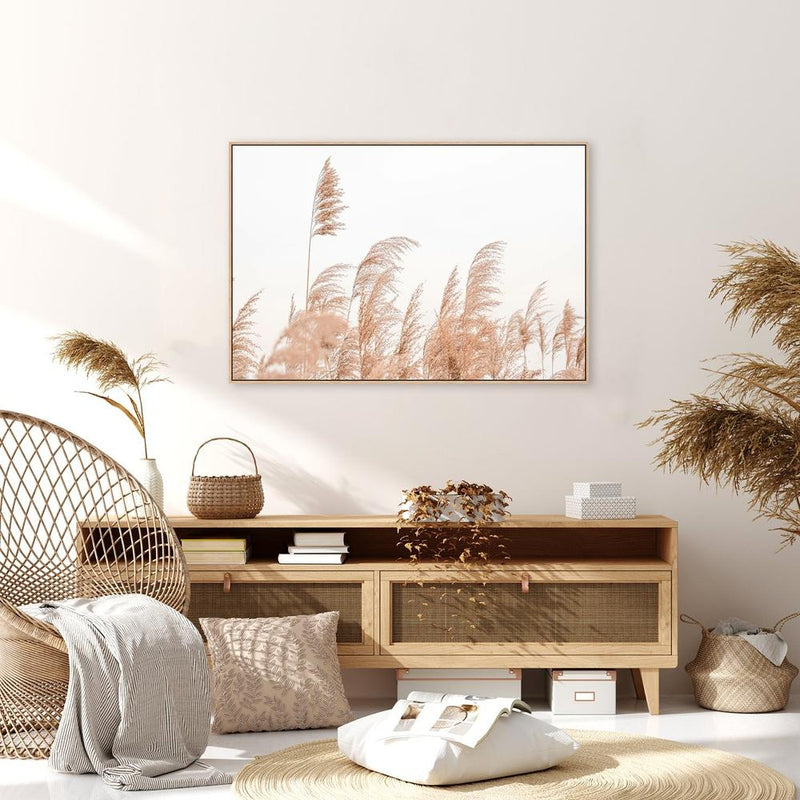 Wall-Art-Poster-Canvas-Framed-Swaying Reeds-Gioia Wall Art