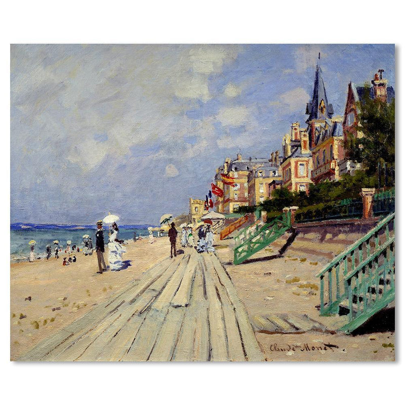 Wall-Art-Poster-Canvas-Framed-The Beach at Trouville, By Monet-Gioia Wall Art