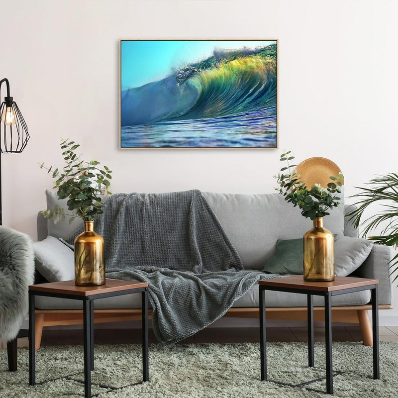 Wall-Art-Poster-Canvas-Framed-The Big Sea Wave-Gioia Wall Art