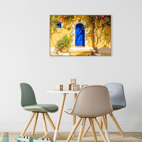 Wall-Art-Poster-Canvas-Framed-The Blue Door-Gioia Wall Art