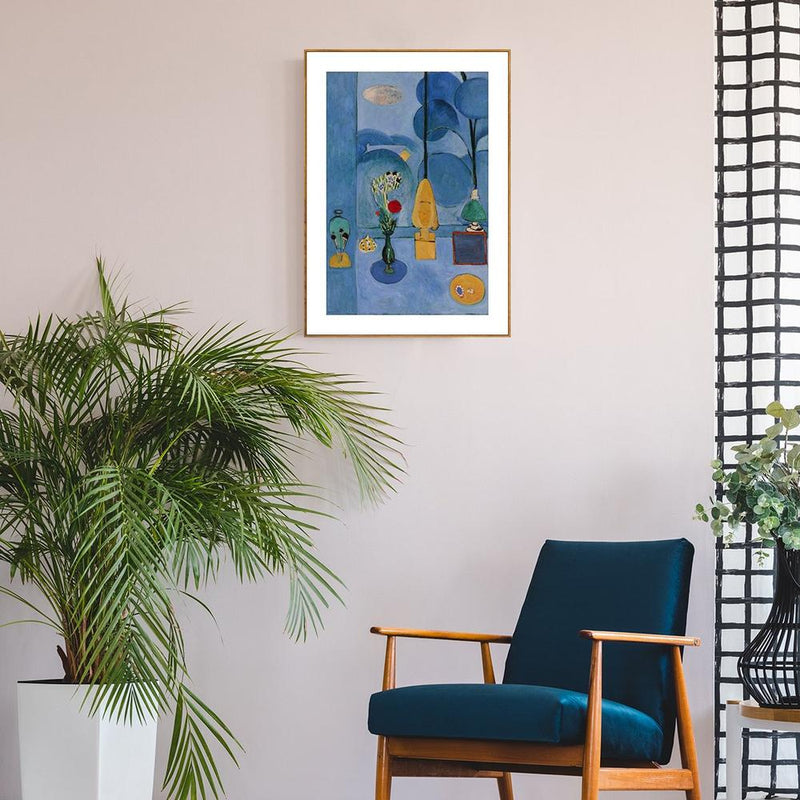 Wall-Art-Poster-Canvas-Framed-The Blue Window, By Henri Matisse-Gioia Wall Art