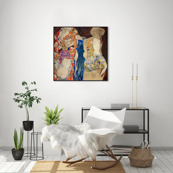 Wall-Art-Poster-Canvas-Framed-The Bride, by Gustav Klimt-Gioia Wall Art
