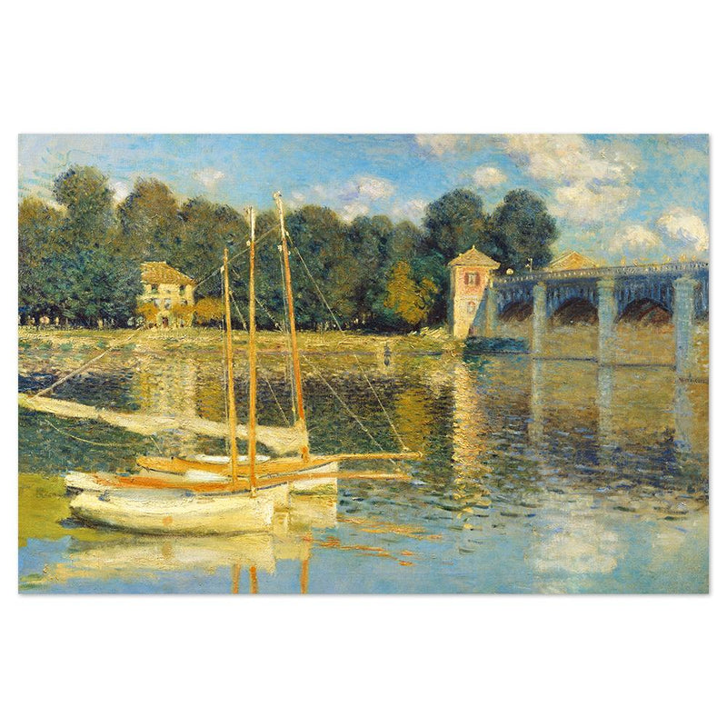 Wall-Art-Poster-Canvas-Framed-The Bridge at Argenteuil, 1874, By Monet-Gioia Wall Art