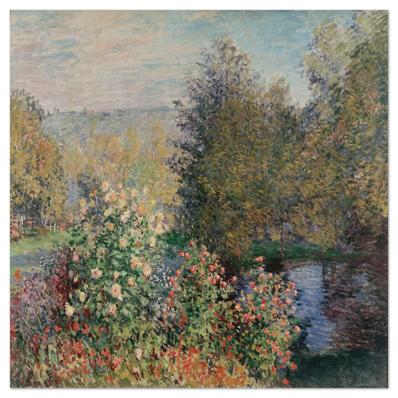 Wall-Art-Poster-Canvas-Framed-The Corner of the Garden at Montgeron, by Monet-Gioia Wall Art