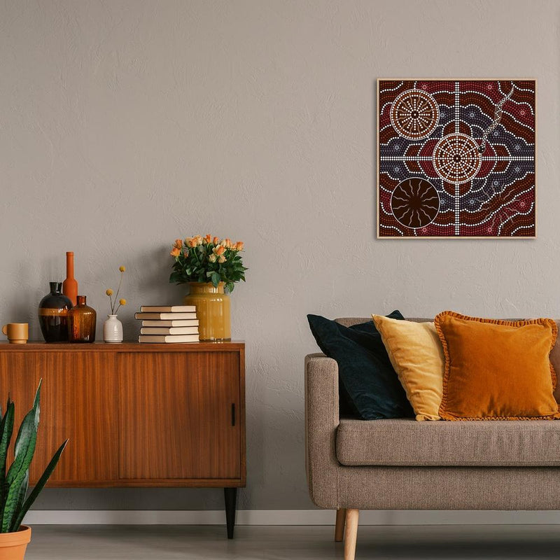 Wall-Art-Poster-Canvas-Framed-The Cross Section-Gioia Wall Art