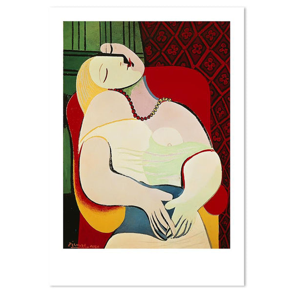 Wall-Art-Poster-Canvas-Framed-The Dream, by Pablo Picasso-Gioia Wall Art