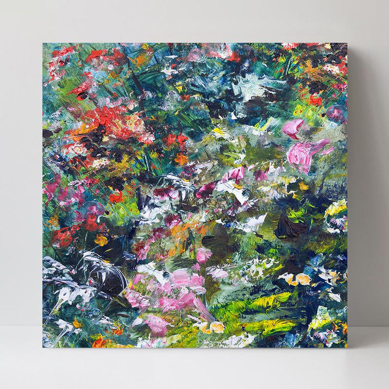 Wall-Art-Poster-Canvas-Framed-The dream garden, abstract painting-Gioia Wall Art