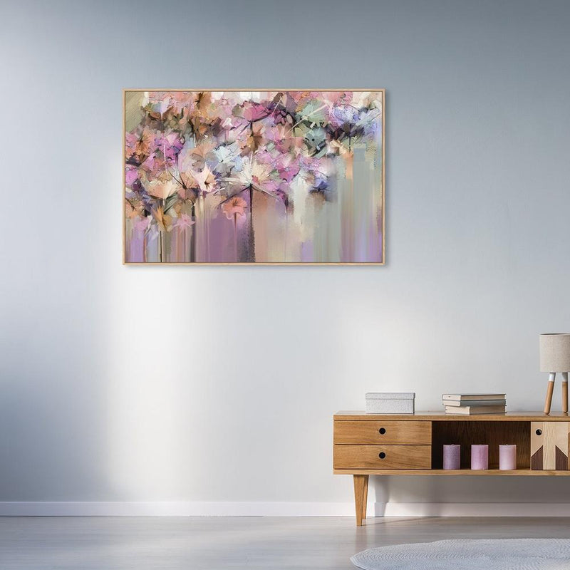 Wall-Art-Poster-Canvas-Framed-The fairy's plate, abstract blossom art-Gioia Wall Art