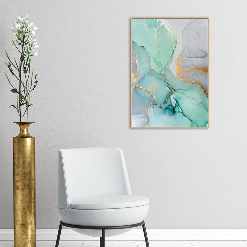 Wall-Art-Poster-Canvas-Framed-The Harmony, Abstract Art, Style A-Gioia Wall Art
