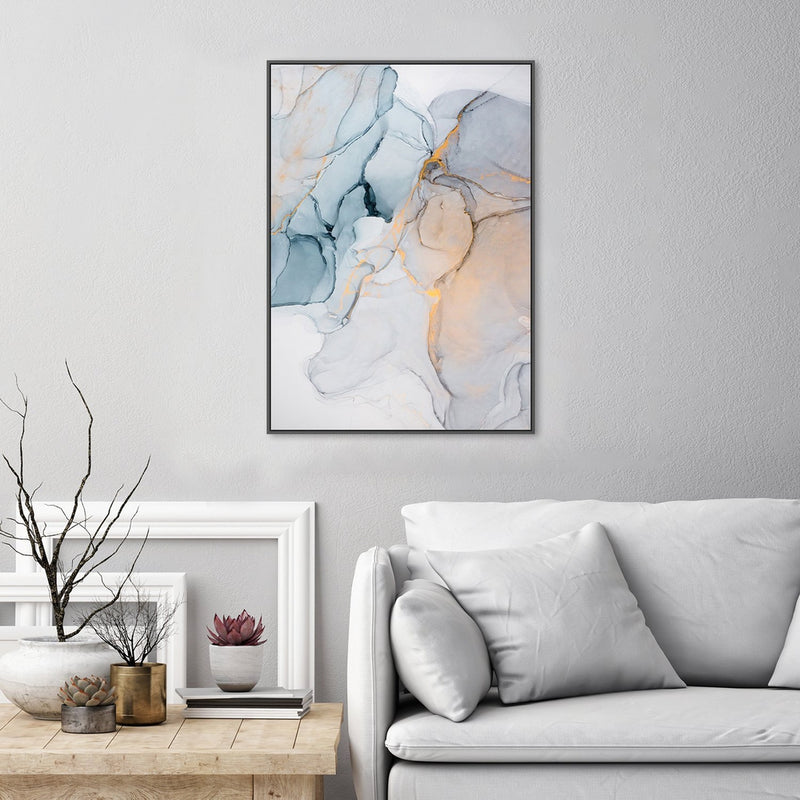 Wall-Art-Poster-Canvas-Framed-The Harmony, Abstract Art, Style B-Gioia Wall Art