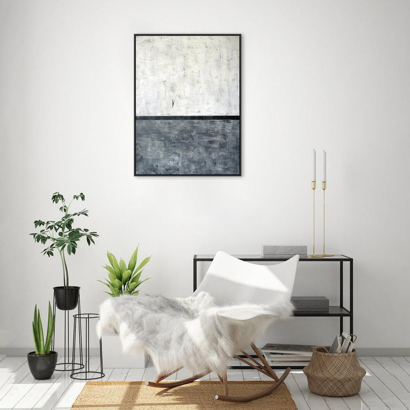 Wall-Art-Poster-Canvas-Framed-The horizon, abstract painting, Hand-painted Canvas-Gioia Wall Art