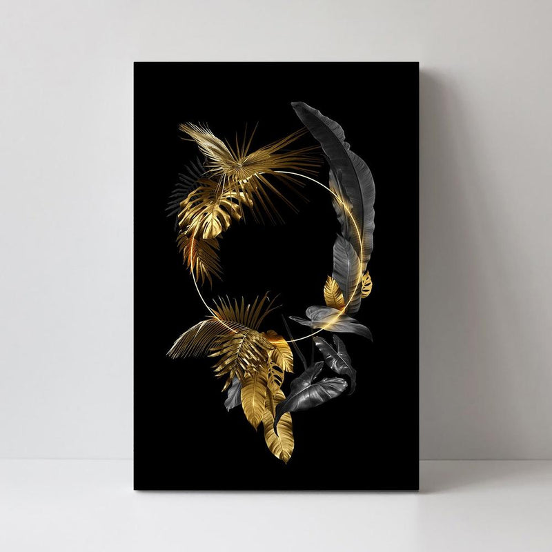 Wall-Art-Poster-Canvas-Framed-The Ring Of Gold, Style B-Gioia Wall Art