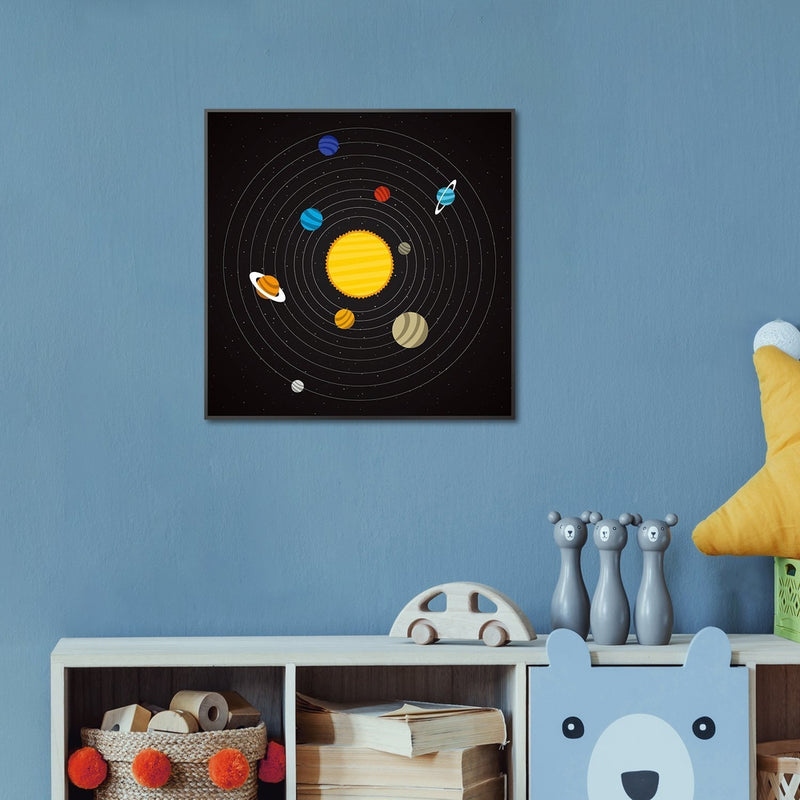Wall-Art-Poster-Canvas-Framed-The Solar System-Gioia Wall Art