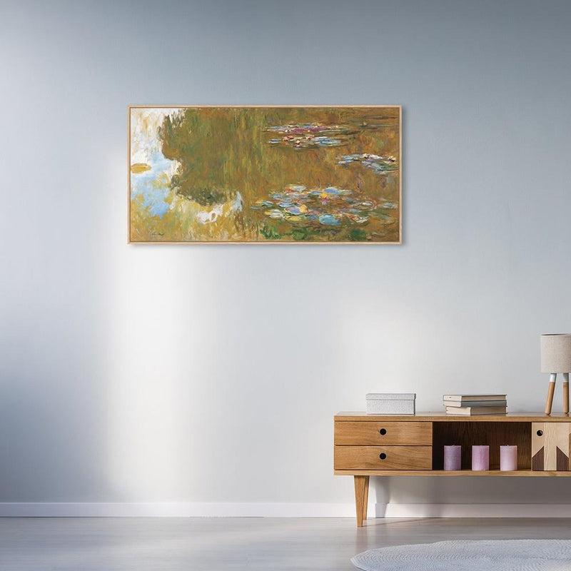 Wall-Art-Poster-Canvas-Framed-The Water Lily Pond, by Monet-Gioia Wall Art