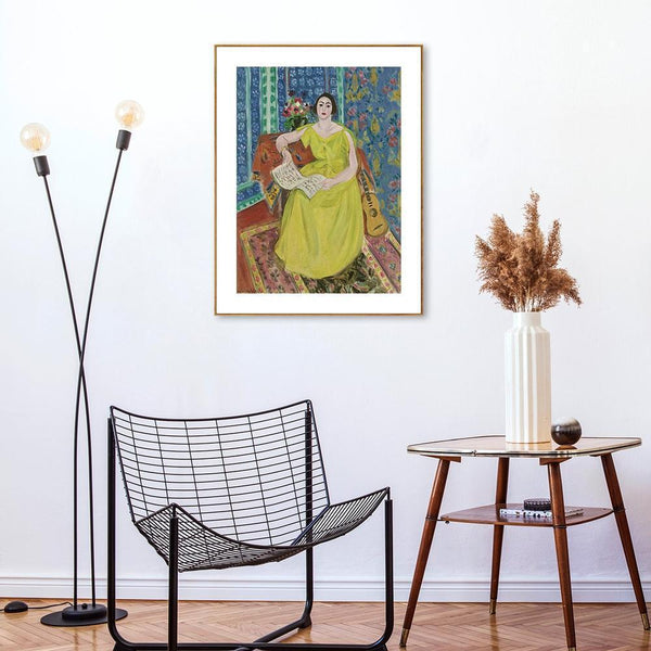 Wall-Art-Poster-Canvas-Framed-The Woman In Wellow, By Henri Matisse-Gioia Wall Art