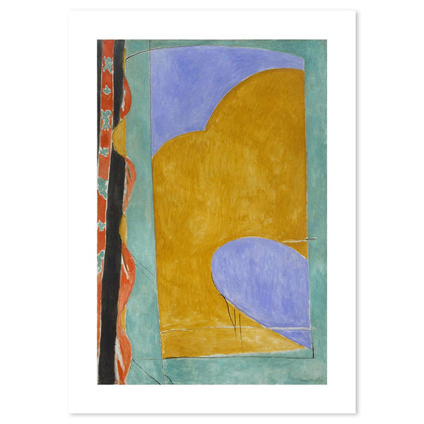 Wall-Art-Poster-Canvas-Framed-The Yellow Curtain, By Henri Matisse-Gioia Wall Art