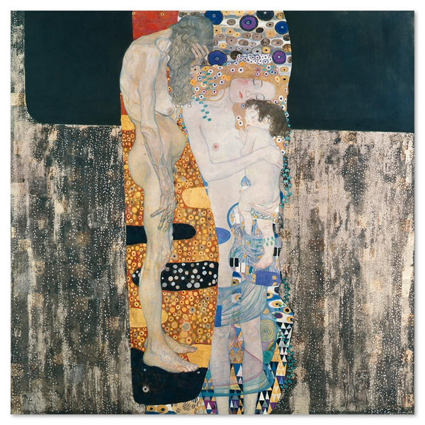 Wall-Art-Poster-Canvas-Framed-Three Ages Of Woman, by Gustav Klimt-Gioia Wall Art