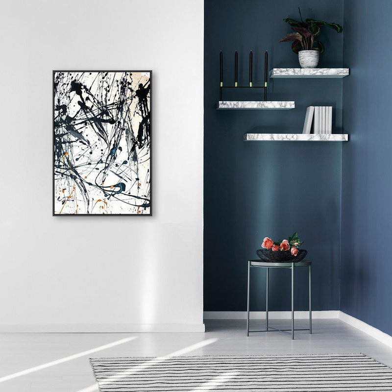 Wall-Art-Poster-Canvas-Framed-Thriving, Abstract Art-Gioia Wall Art