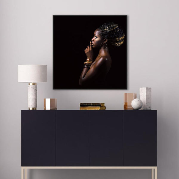 Wall-Art-Poster-Canvas-Framed-Tribal Goddess-Gioia Wall Art