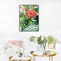 Wall-Art-Poster-Canvas-Framed-Tropical Flower-Gioia Wall Art