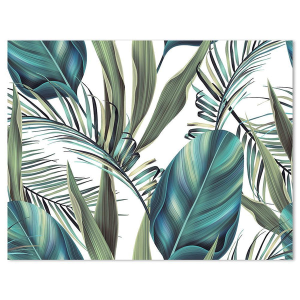 Wall-Art-Poster-Canvas-Framed-Tropical leaves in Hawaiian style-Gioia Wall Art