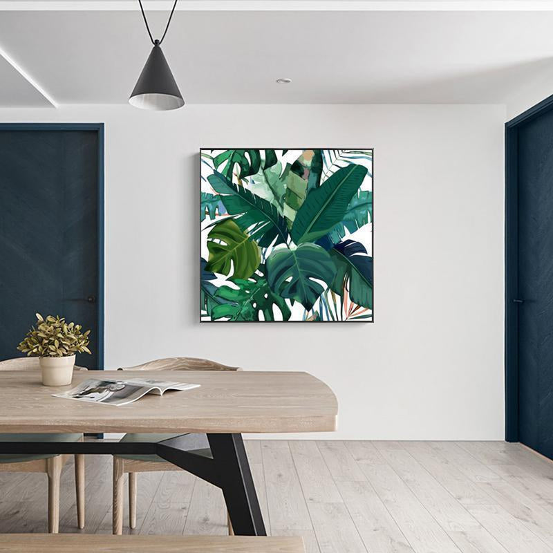 Wall-Art-Poster-Canvas-Framed-Tropical Leaves, Watercolour Style-Gioia Wall Art