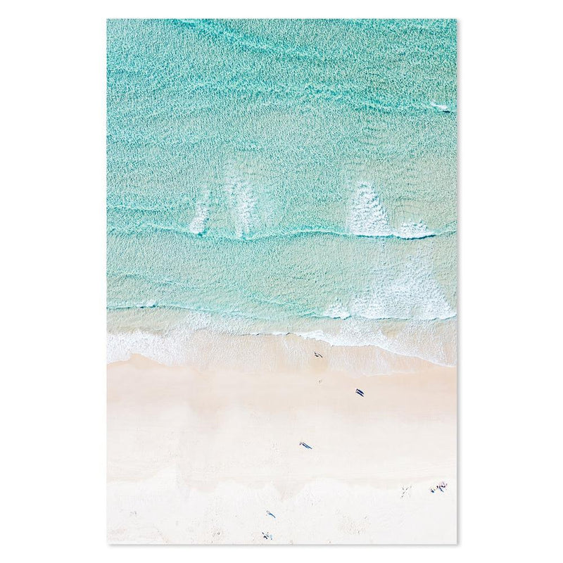 Wall-Art-Poster-Canvas-Framed-Turquoise Beach-Gioia Wall Art