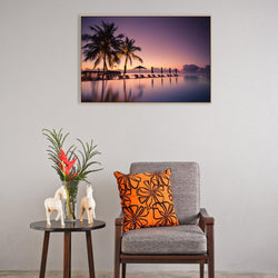 Wall-Art-Poster-Canvas-Framed-Vacation Sunset-Gioia Wall Art