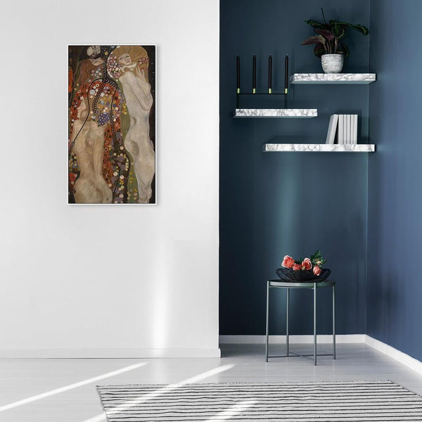 Wall-Art-Poster-Canvas-Framed-Water Serpents by Gustav Klimt-Gioia Wall Art