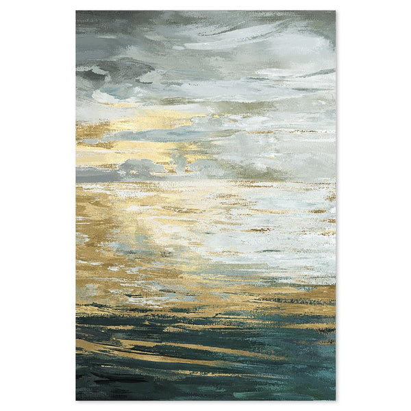 Wall-Art-Poster-Canvas-Framed-Waves at sunset-Gioia Wall Art