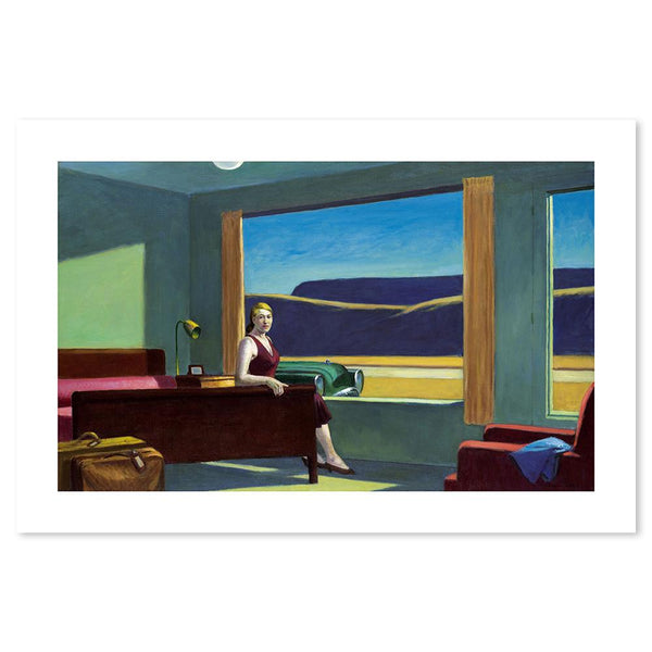 Wall-Art-Poster-Canvas-Framed-Western Motel, By Edward Hopper-Gioia Wall Art