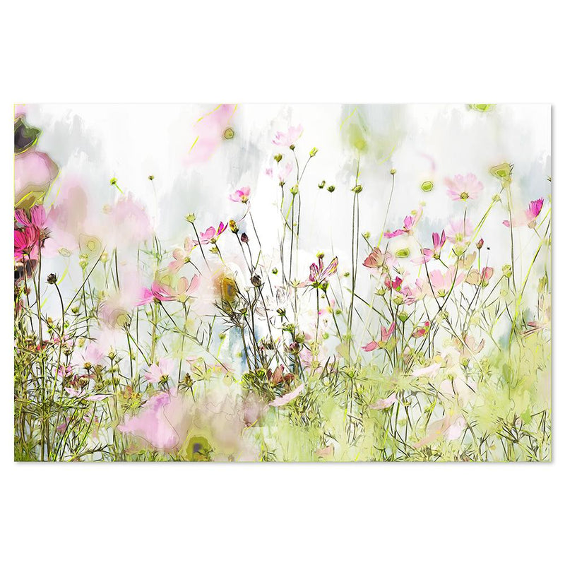 Wall-Art-Poster-Canvas-Framed-Wild Flowers, Style B-Gioia Wall Art