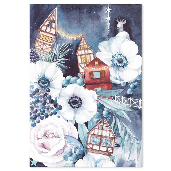 Wall-Art-Poster-Canvas-Framed-Winter fairytale, Style B-Gioia Wall Art