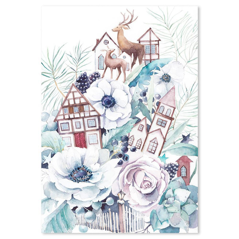 Wall-Art-Poster-Canvas-Framed-Winter fairytale, Style C-Gioia Wall Art