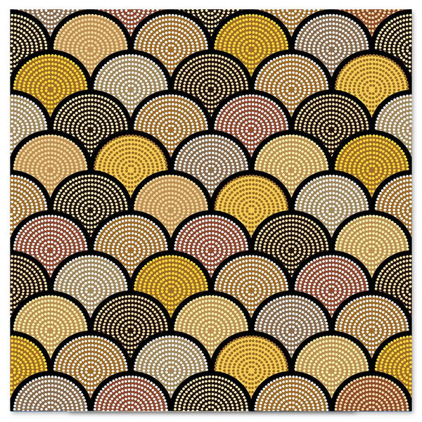 Wall-Art-Poster-Canvas-Framed-Yellow Dotted Scales-Gioia Wall Art