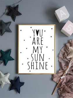 Wall-Art-Poster-Canvas-Framed-You Are My Sunshine-Gioia Wall Art
