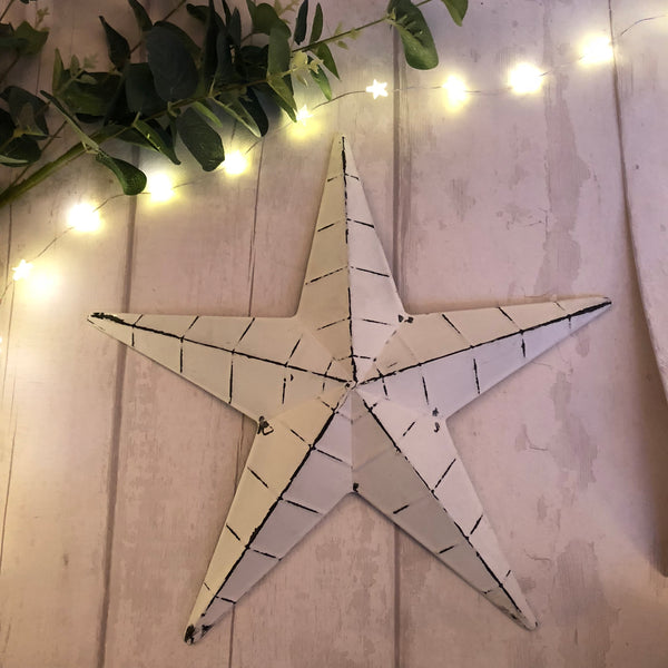 White metal barn star