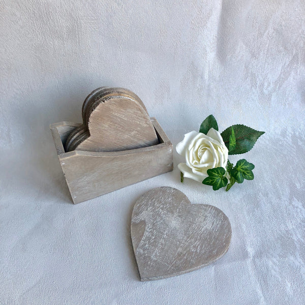Heart Coasters - Set of 4