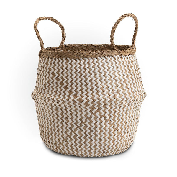 Seagrass storage basket natural