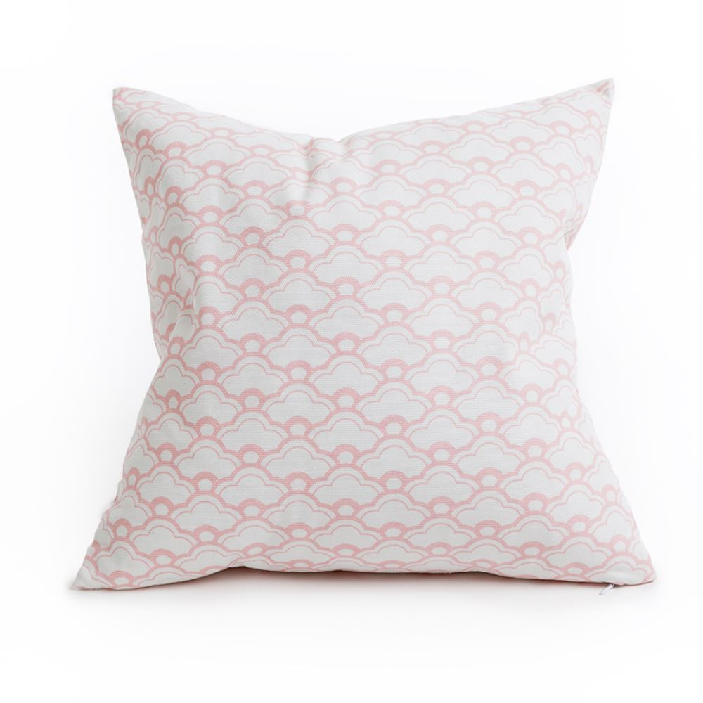 Geometric bubble cushion - Pink